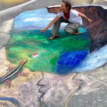 outdoor chalk scene