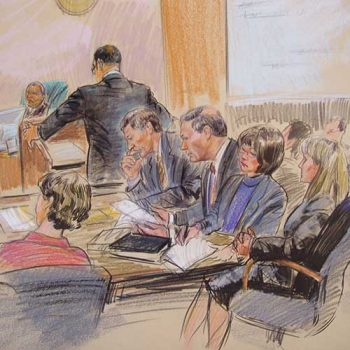 court case sketch