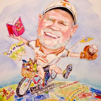 baseball fan caricature