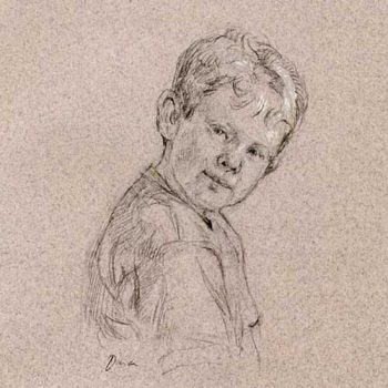 portrait sketch of child