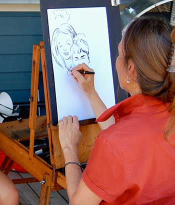 DC caricature sketch artist