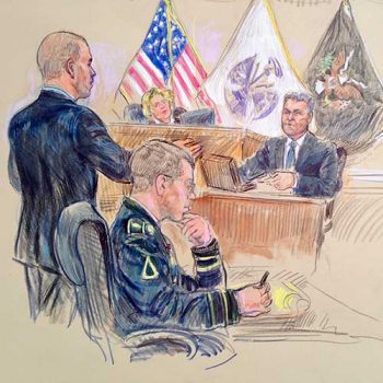 military court drawing