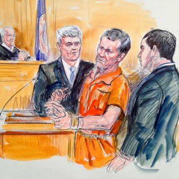 Charles Manson court sketch