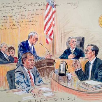 courtroom media drawing