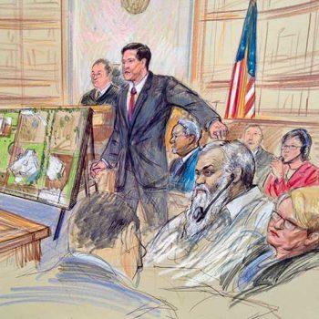 terror court case sketch