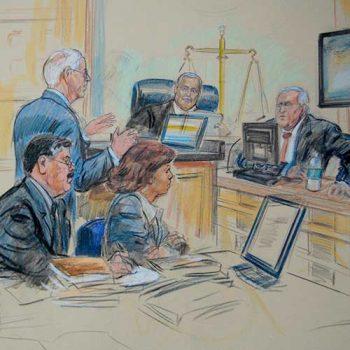 court room sketch