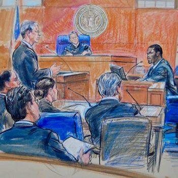 court case illustration