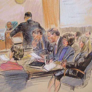 court case sketch