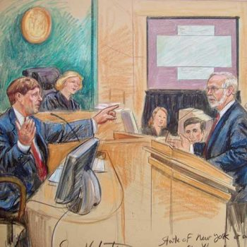 Bill Gates court drawing
