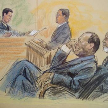 OJ Simpson court drawing