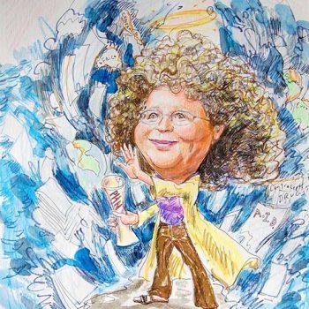 super woman caricature