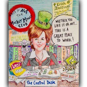 woman executive caricature