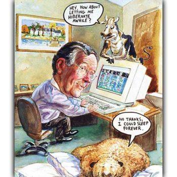 business man caricature