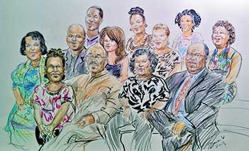 family drawn sketch