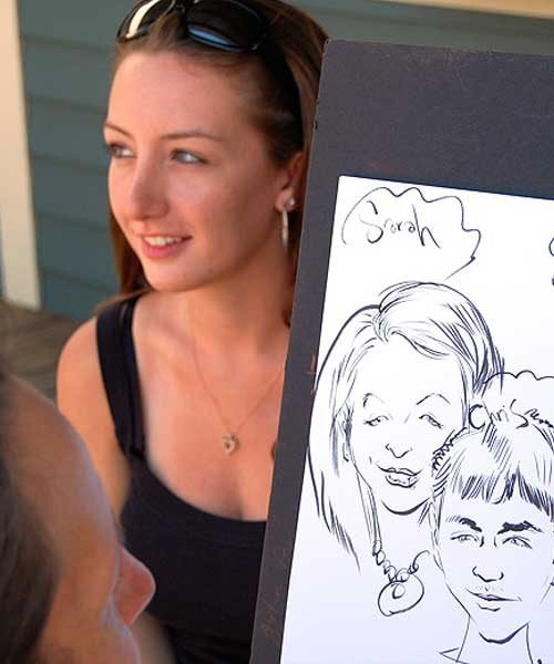 live sketch of a young girl